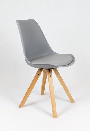 SK Design KR020A Grau Stuhl mit Polypropylen und Kissen