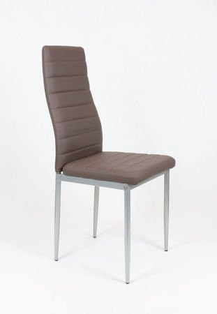 SK Design KS001 Hellgrey Kunsleder Stuhl auf einem lackierten Rahmen