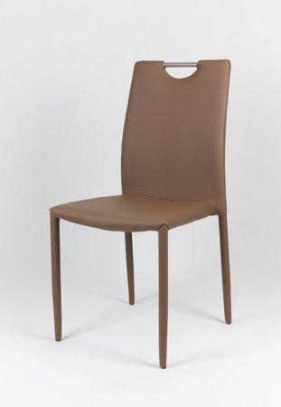 SK Design KS006 Braun Kunsleder Stuhl mit Beine aus Kunstleder