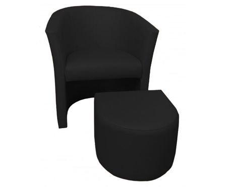Schwarz CAMPARI Sessel mit Fußstütze