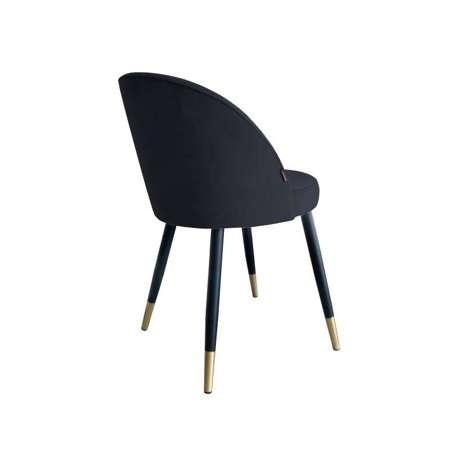 Schwarzer gepolsterter Stuhl CENTAUR Material MG-19 mit goldenen Bein