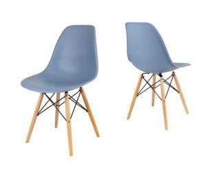 SK Design KR012 Gołębie (szare) Krzesło, Nogi buk