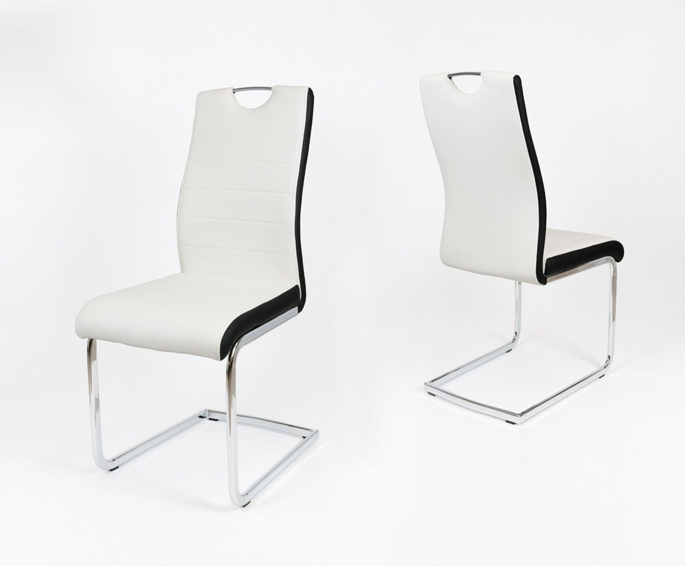 Wspaniały SK Design KS037 Białe Krzesło, Czarny bok Biały | Oferta \ Krzesła VQ39