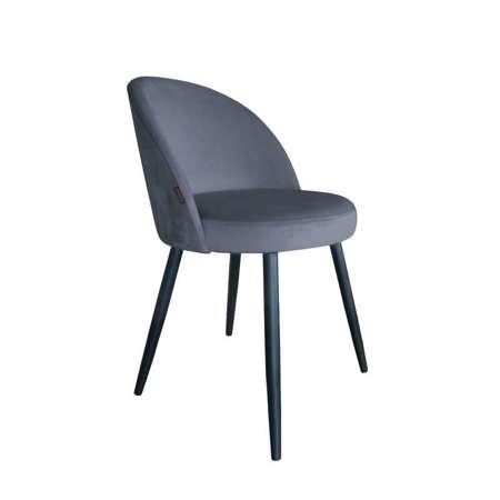 Ciemnoszare tapicerowane krzesło CENTAUR materiał BL-14