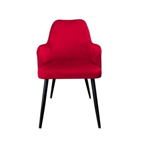 Czerwone tapicerowane krzesło PEGAZ materiał MG-31