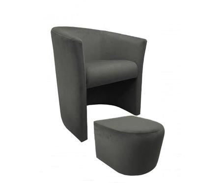 Fotel CAMPARI z podnóżkiem Magic Velvet 17