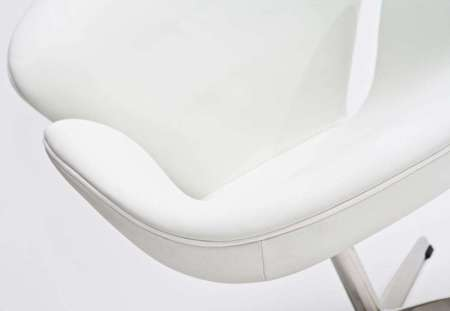 Fotel Cup biała skóra 01