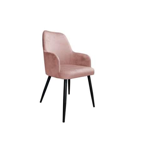 Koralowe tapicerowane krzesło PEGAZ materiał MG-58