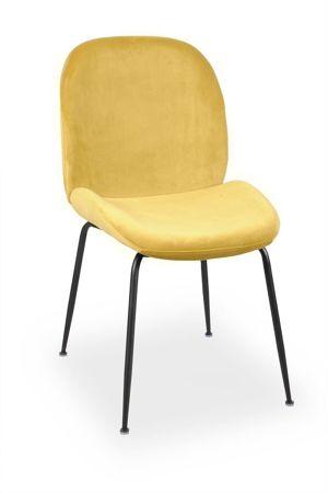 Krzesło JOY velvet miodowy/ noga czarna