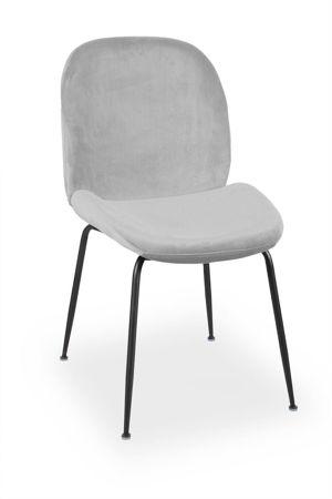 Krzesło JOY velvet szary/ noga czarna