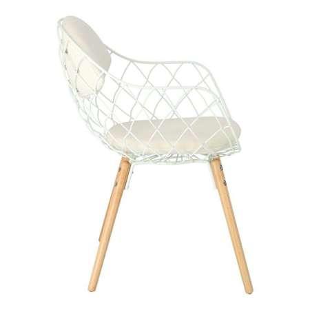 Krzesło Jahi białe/białe/naturalny