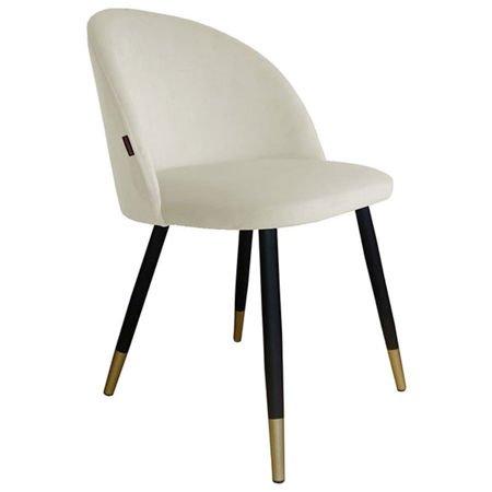 Krzesło KALIPSO w kolorze kości słoniowej materiał MG-50 ze złotą nóżką