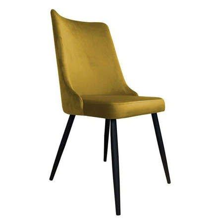 Krzesło Orion żółte musztardowe materiał MG-15