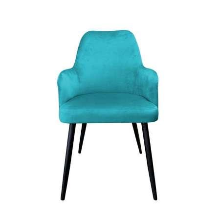 Morskie tapicerowane krzesło PEGAZ materiał MG-20