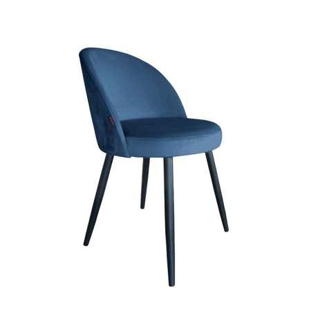 Niebieskie tapicerowane krzesło CENTAUR materiał MG-33