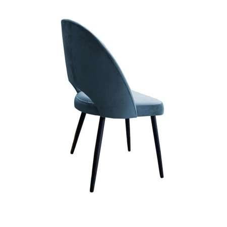Niebieskoszare tapicerowane krzesło LUNA materiał BL-06