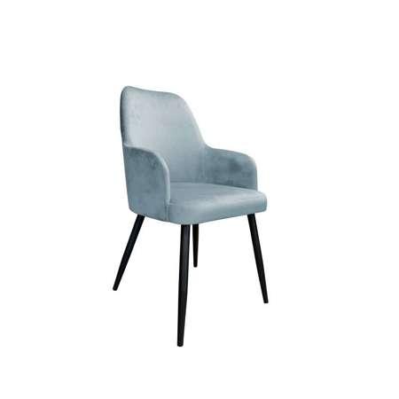 Niebieskoszare tapicerowane krzesło PEGAZ materiał BL-06