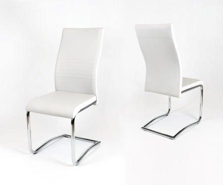 OUTLET SK Design KS020 Jasnoszare Krzesło, Biały bok