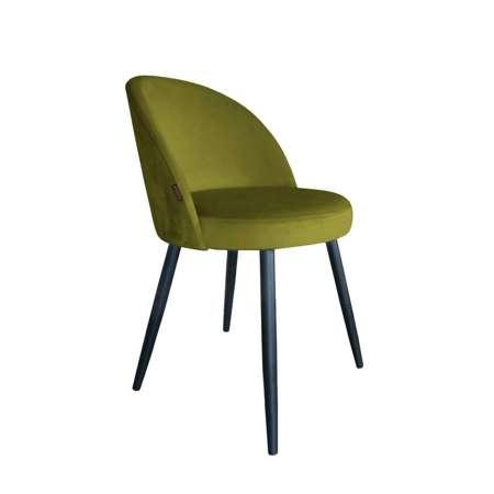 Oliwkowe tapicerowane krzesło CENTAUR materiał BL-75