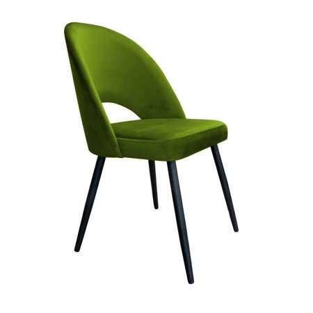Oliwkowe tapicerowane krzesło LUNA materiał BL-75
