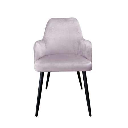 Różowe tapicerowane krzesło PEGAZ materiał MG-55