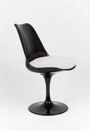 SK Design KR029 Czarne Obrotowe Krzesło + Poduszka