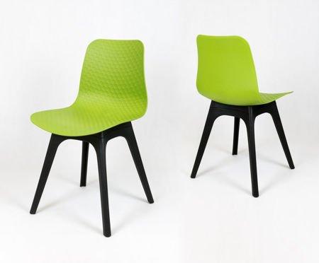 SK DESIGN KR061 Zielone Krzesło