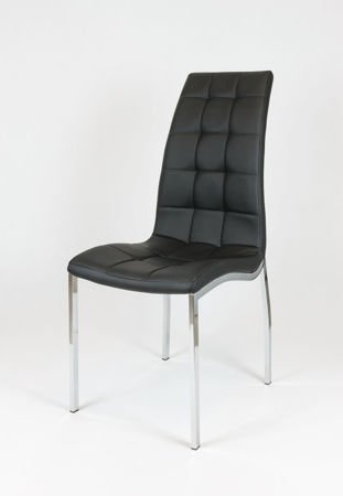 SK Design KS002 Czarne Pikowane Krzesło
