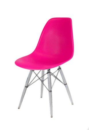 SK Design KR012 Ciemnoróżowe Krzesło, Nogi lodowe