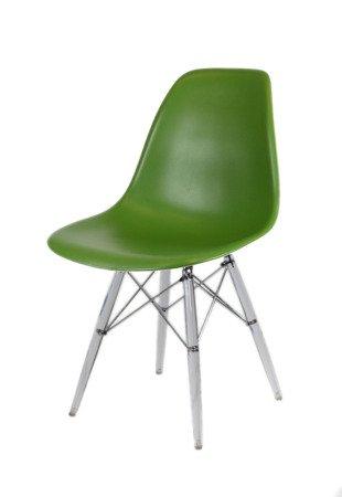 SK Design KR012 Ciemnozielone Krzesło, Nogi lodowe