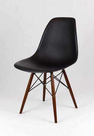 SK Design KR012 Czarne Krzesło, Nogi wenge
