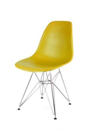 SK Design KR012 Oliwkowe krzesło, Chromowane nogi