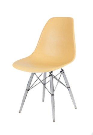 SK Design KR012 Piaskowe (beżowe) Krzesło, Nogi lodowe