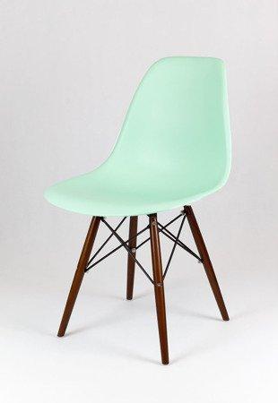 SK Design KR012 Pistacjowe / Miętowe Krzesło, Nogi wenge
