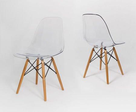 SK Design KR012 Transparentne Krzesło, Nogi buk