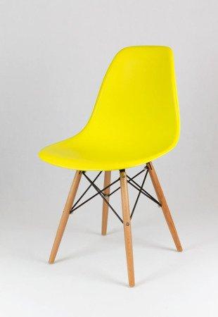 SK Design KR012 Żółte Krzesło, Nogi buk