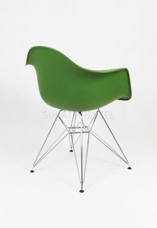 SK Design KR012F Ciemnozielony Fotel Chrom