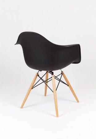 SK Design KR012F Czarny Fotel Buk