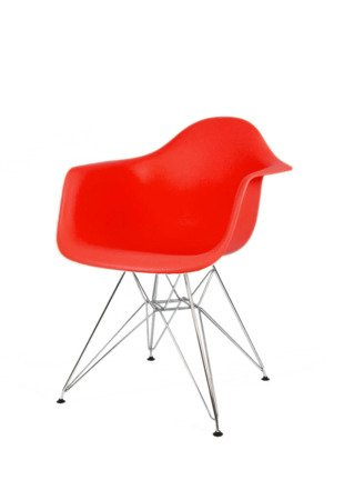 SK Design KR012F Czerwony Fotel Chrom