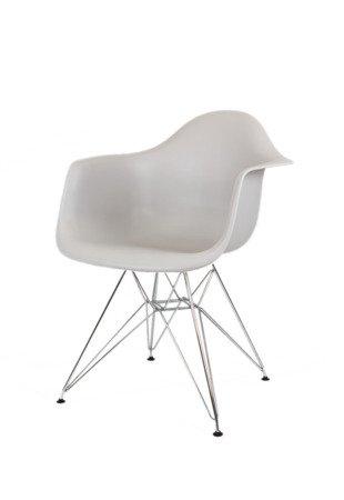 SK Design KR012F Jasnoszary Fotel Chrom