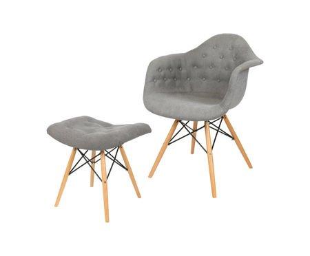 SK Design KR012F Tapicerowany Fotel Moric 7 Guzik Buk