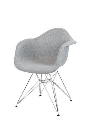SK Design KR012F Tapicerowany Fotel Muna08 Chrom