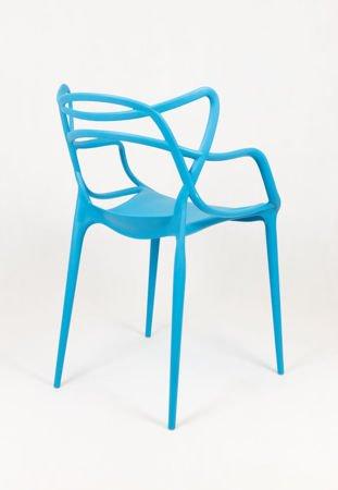 SK Design KR013 Niebieskie Krzesło