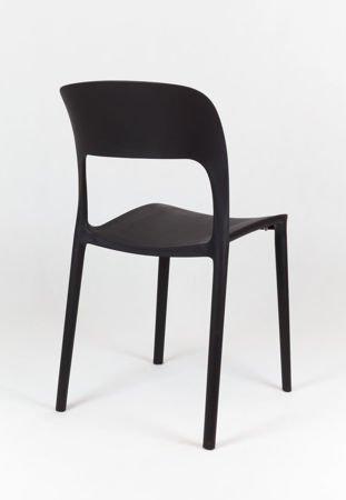 SK Design KR022 Czarne Krzesło Polipropylenowe UFO