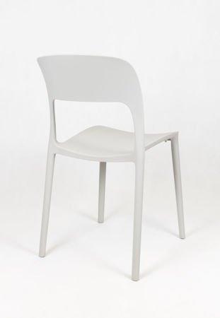 SK Design KR022 Jasnoszare Krzesło UFO