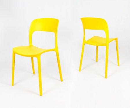 SK Design KR022 Żółte Krzesło UFO