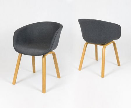 SK Design KR049 Grafitowe Krzesło Tapicerowane na zamówienie