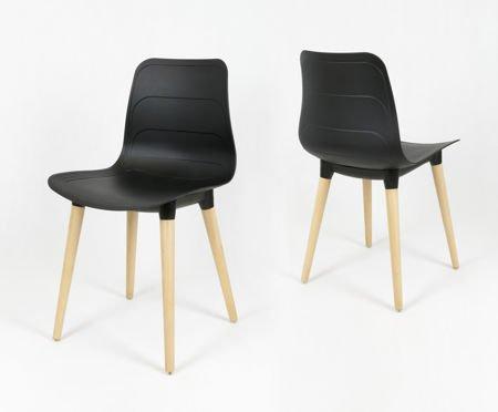 SK Design KR062 Czarne Krzesło