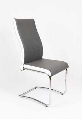 SK Design KS020 Ciemnoszare Krzesło, Biały bok