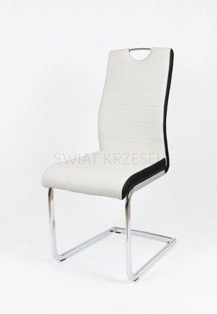 SK Design KS037 Białe Krzesło, Czarny bok